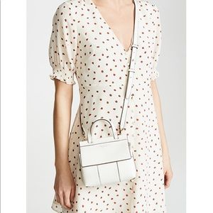 Tory Burch white T block mini satchel